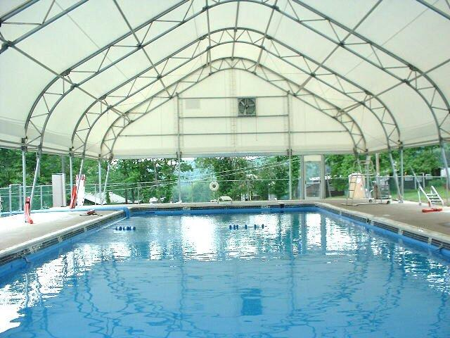 Mbd fabric covered buildings peak design photo gallery 2 for Sport swimming pool design