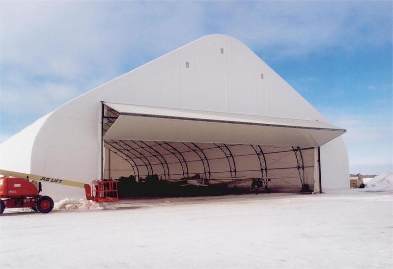 ... 08 Aircraft Hangar With Bifold Door ...